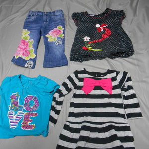 Lot of 4 girl's size 3T clothes